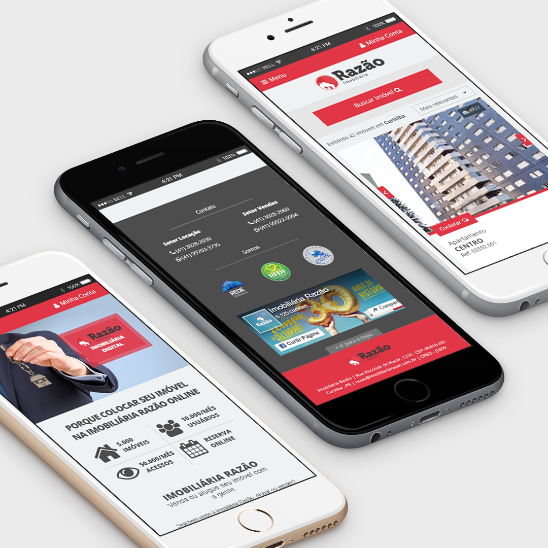 design responsivo aplicativo app mobile